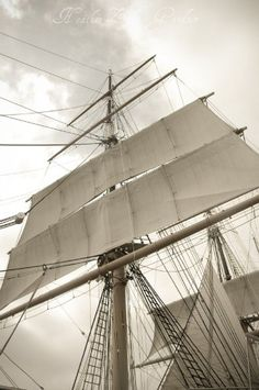 """Star of India"", three-masted barque,  San Diego,  by HeatherZahnGardner"