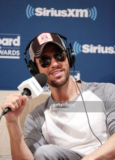 Enrique Iglesias talks with The Morning Mash Up on SiriusXM Hits 1 during a backstage broadcast leading up to the Billboard Music Awards on May 19, 2018 in Las Vegas, Nevada.