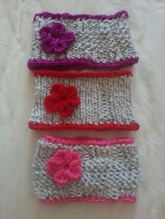 Loom Knit Ear Warmer Collection With by NeedlesAndBowsCrafts, $2.00