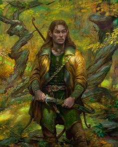 Legolas in Mirkwood - Donato Giancola