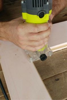 We have been busy building the french doors for our tiny house. In this post, I will explain how to build your own set of french doors. Diy Door, Tiny Living, French Doors, Drill, Tiny House, Building, Green, Hole Punch, Drills