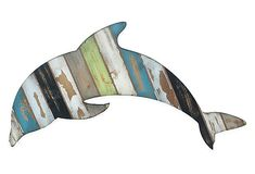 Wood dolphin. On sale at One Kings Lane current sale.
