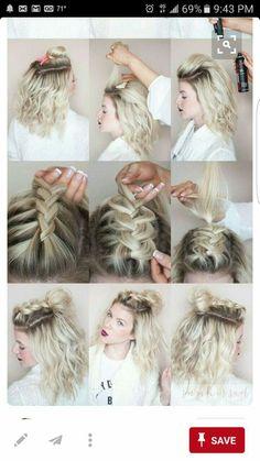 Um lindo penteado!