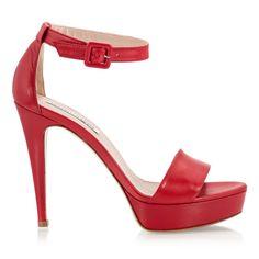 f095153dd01c Fratelli Karida Rubin red nappa leather high heel platform ankle strap  sandals Red Accessories