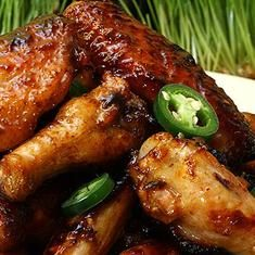 Coca-cola–glazed Chicken Wings
