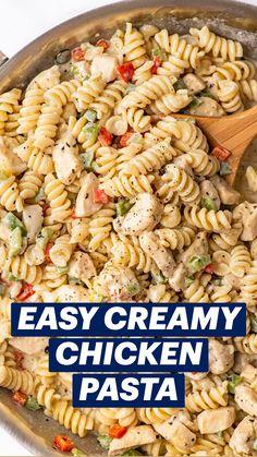 Grilled Chicken Pasta, Chicken Pasta Salad Recipes, Creamy Chicken Pasta, Easy Pasta Salad Recipe, Easy Pasta Recipes, Cooking Recipes, Easy Pasta Dinners, Pasta Recipes With Chicken, Pasta Recipes For Dinner