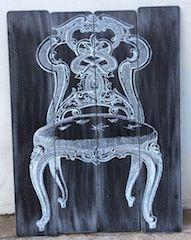 cuadro tablas madera imagen silla 2 medidas 60x80 cm