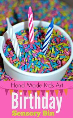 Birthday Sensory Bin - Hand Made Kids Art