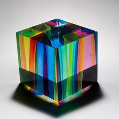 Tesseract blown glass, by Tim Rawlinson, POA, exhibited by London Glassblowing