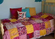Gathered Quilt or Duvet Cover Tutorial