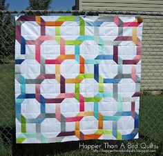 Linky Love pattern done in Simply Color ombre Jelly Roll by Lindsey @ Happierthanabirdquilts