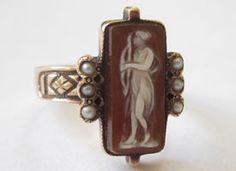 Short Stories: Goddess Diana Cameo Ring on Etsy