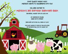 Invitación del granero de la granja Animales por OnesofLove en Etsy