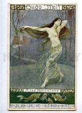 182495 ART NOUVEAU  Dancer MERMAID by SCHUTZ Vintage PC