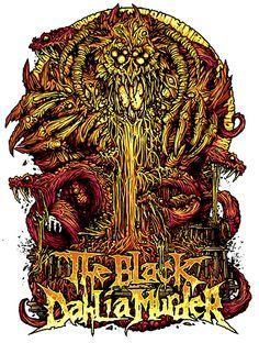 Dan Mumford: The Black Dahlia Murder-Typhon Heavy Metal Art, Heavy Metal Bands, Black Metal, Music Artwork, Metal Artwork, Punk Tattoo, Tattoos, Dan Mumford, Art Hippie