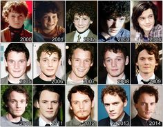The Evolution Of: Anton Yelchin > 2000, 2005 and 2007 are wrong...2002,2003,2006 and 2008 I'm not sure...and others are correct