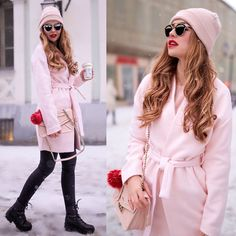 Alina N. - Blush Winter Furla, Fashion 2017, Christian Dior, Outfit Of The Day, Asos, Blush, Shades, Shirt Dress, Elegant
