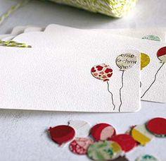 Tarjetas para regalos... Y más detalles para una fiesta perfecta.