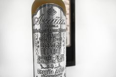 Packaging of the World: Creative Package Design Archive and Gallery: Commemorative Aged Añejo Tequila by Azuñia Tequila Bottles, Drink Bottles, Packaging Design Inspiration, Graphic Design Typography, Red Bull, Liquor, Alcoholic Drinks, Creative Package, Package Design