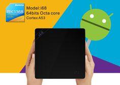i68 TV Box 4K Android 5.1 RK3368 64bits Octa core 2.4G Cortex A53 1G8G HDMI2.0KodiXBMCMiracastDLNA H.264H.265 4K2K 802.11bgn 2.4G WiFi Mini PC Smart Media Player w Remote Controller Black