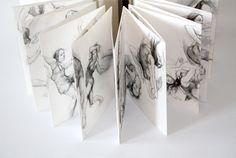 """Or she could dance"" Handmade concertina book, Joanne Pirrie and Rebecca Ross. August 2011, Edinburgh"