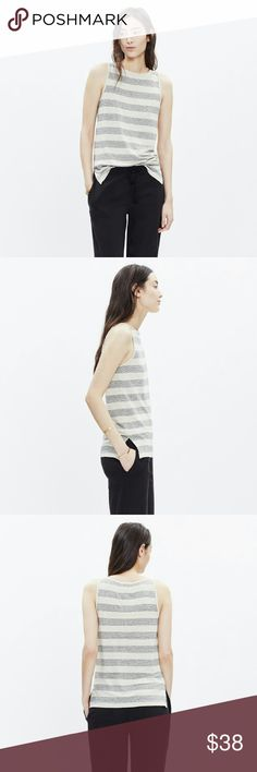 Madewell Linen Tank Top Modern Linen Tank Top from Madewell. Classic, yet relaxed look with really nice drape & neckline!  NWOT - this top was literally only worn once, so it is in excellent condition - looks brand new! Madewell Tops Tank Tops