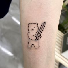 Goodmorningtown is a tattoo artist based in Korea Seoul. He is a very popular tattoo artist in Korea. His tattoos usually include cute drawings. Pin Up Tattoos, Boy Tattoos, Mini Tattoos, Body Art Tattoos, Sleeve Tattoos, Tatoos, Geek Tattoos, Celtic Tattoos, Animal Tattoos