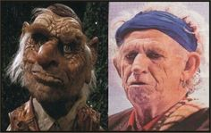 Keith Richards is becoming Hoggle!