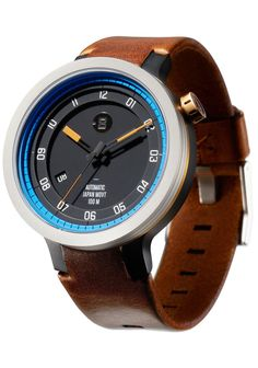 Minus-8 Layer Leather Automatic Brown/Silver/Blue