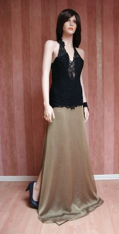 Chiffon and Lace Gown Chiffon, Spring Summer, Gowns, Couture, Formal Dresses, Lace, Collection, Fashion, Vestidos
