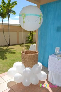 Hot Air Balloon/Sky Baby Shower Party Ideas | Photo 3 of 35 | Catch My Party