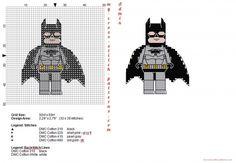 Lego Superheroes Batman free cross stitch pattern (click to view)