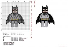 Lego Superheroes Batman free cross stitch pattern (click to view)
