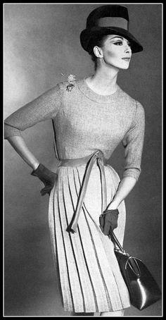 Wilhelmina in Hermès, photo Robert Laurent, 1962