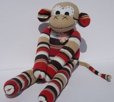 Handmade sock monkey : John  The original 100% by ChikiMonkeys