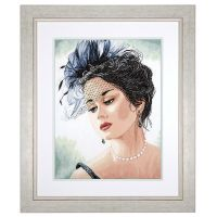 Lady in Hat Counted Cross Stitch Kit