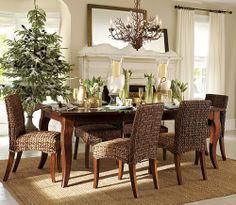 Seagrass dining chairs
