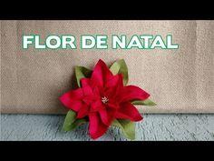Enfeites de Natal - Flor de Feltro de Natal - Passo a Passo - YouTube