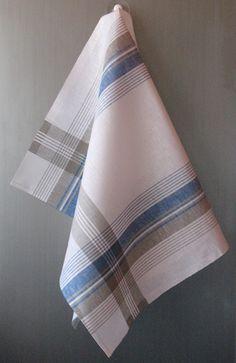 Linen Cotton Dish Towels - Tea Towels set of 2 Grey Tea Towels, Linen Towels, Dish Towels, Hand Towels, Loom Weaving, Hand Weaving, Weaving Projects, Weaving Patterns, Weaving Techniques