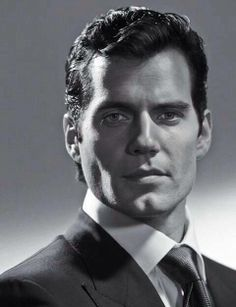 Henry Cavill Black & White-old Hollywood glamour. He is gorgeous