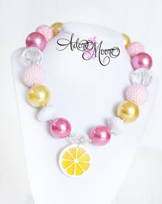 Hey, I found this really awesome Etsy listing at http://www.etsy.com/listing/150266009/pink-lemonade-necklace-chunky-bead