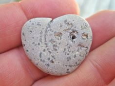 Natural Stone Heart with hole  Heart Shaped Rock by WaveSong, $22.00