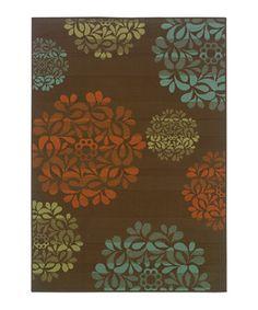 Brown Blossom Jamaica Indoor/Outdoor Rug by Oriental Weavers #zulily #zulilyfinds