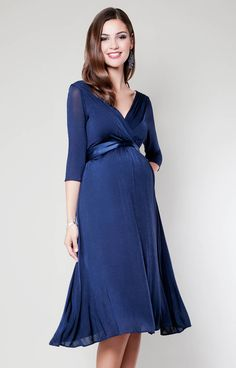 Willow Maternity Dress (Midnight Blue) - Maternity Wedding Dresses, Evening Wear and Party Clothes by Tiffany Rose Maternity Evening Wear, Plus Size Maternity Dresses, Maternity Wear, Maternity Fashion, Maternity Wedding, Maternity Wardrobe, Inexpensive Dresses, Dress Sites, Pregnant Wedding Dress
