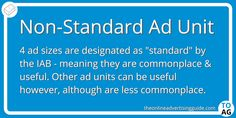 Apart from the three standard ad units, there are a few other legitimate and widely used non-standard ad units.  #DigitalMarketing   #DisplayAdvertising   #Websites