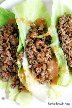 Thai Beef Cabbage Cups-Seriously my family loved these! Anytime I can feed my family on one pound of beef I say yeah! Paleo Recipes, Asian Recipes, Dinner Recipes, Cooking Recipes, Wrap Recipes, Cooking Tips, Holiday Recipes, Ethnic Recipes, I Love Food