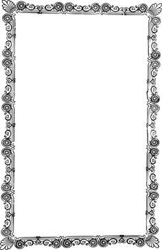 ornate old frame - /page_frames/old_ornate_borders/ornate_frames/ornate_old_frame. Page Frames, Old Frames, Vintage Frames, Printable Lined Paper, Printable Frames, Frame Border Design, Page Borders Design, Borders For Paper, Borders And Frames