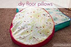 Carissa Miss: DIY Floor Pillows