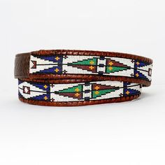 Beading Patterns, Embroidery Patterns, Tom Taylor, Beaded Belts, Beaded Bracelets, Native Beadwork, Brass Buckle, Handmade Leather, Beaded Embroidery