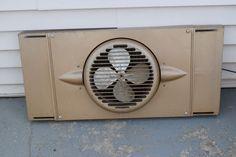 Vintage Art Deco Plane Style Reversible Window Fan Torrington mfg co